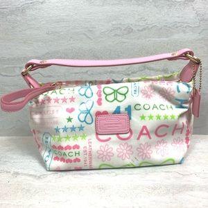 Coach bag vinyl purse graffiti butterfly stars